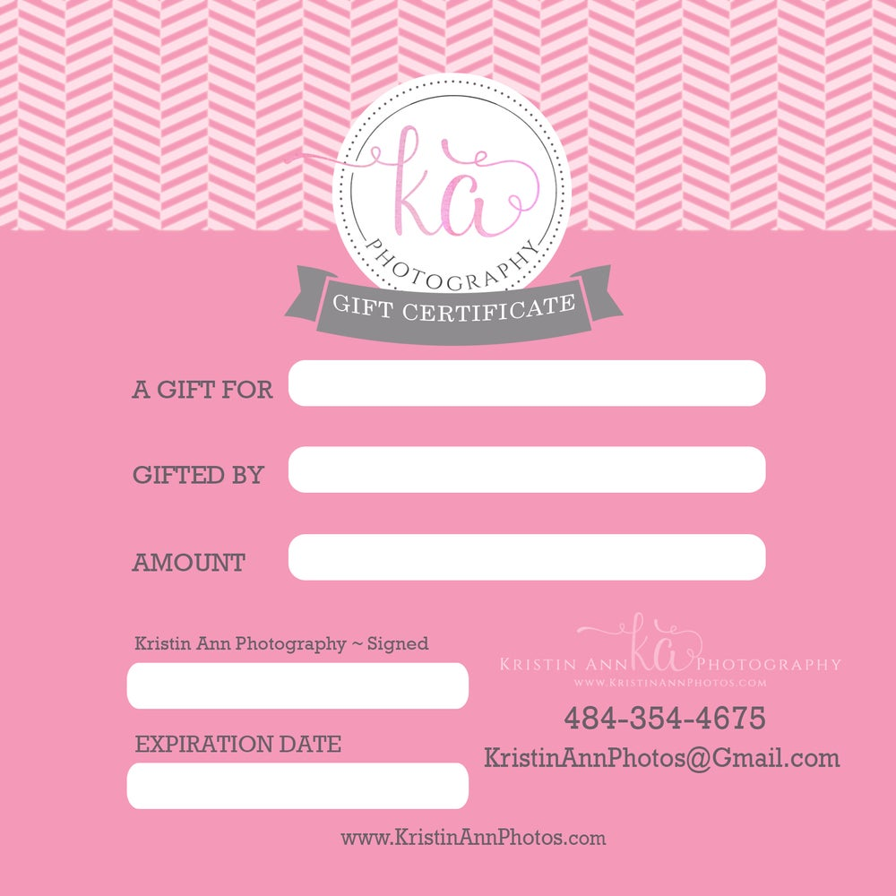 Image of Gift Certfificate