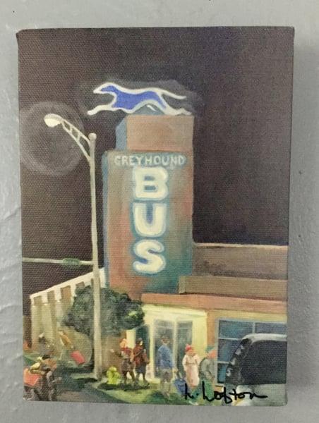 Image of LL007  5X7 Reprint Goodnight Greyhound