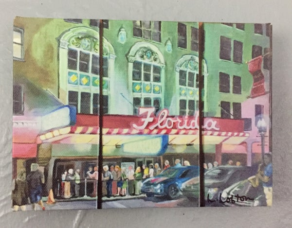 """Image of LL009 5X7 Reprint of """"Nightlife at the Florida Theatre"""""""