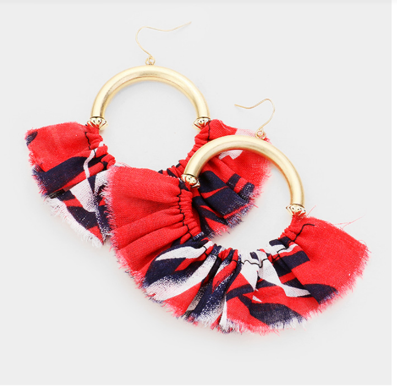 Image of Fabric Hoop Earrings