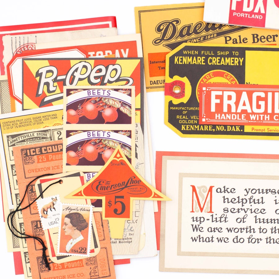 Image of Red, Orange, & Yellow Ephemera Bundle