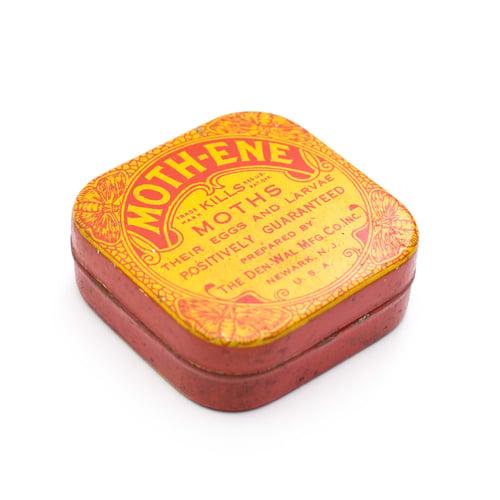 Image of Moth Tin with Orange Ephemera