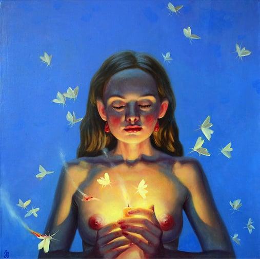 Image of Jana Brike 'Burning Love' original art