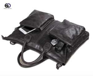 Image of Madrid Leather Messenger Bag