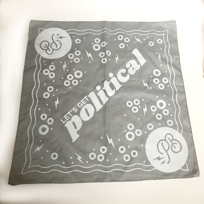 Image of let's get political bandana