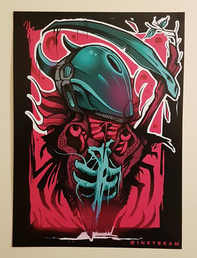 Image of Cyberpunk Satan - A3 Heavyweight Print