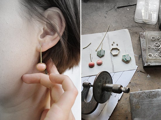 Image of FANCY STONE EAR RINGS