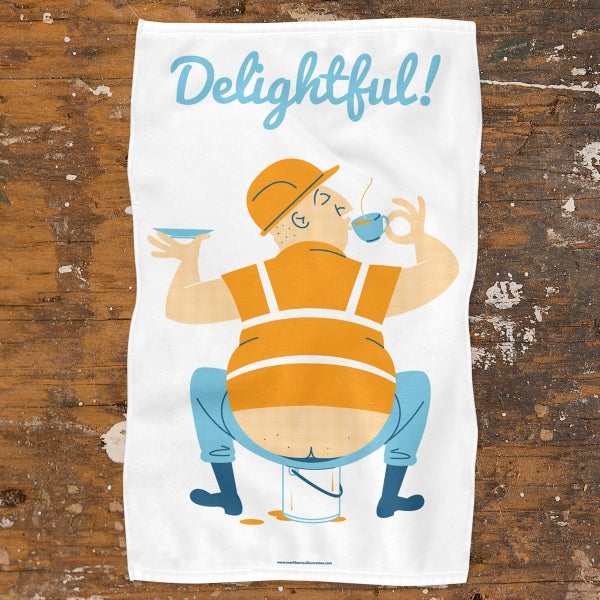 Image of Funny Tea Towel | Ideal Gift | 100% Cotton | Screen Printed Original Design