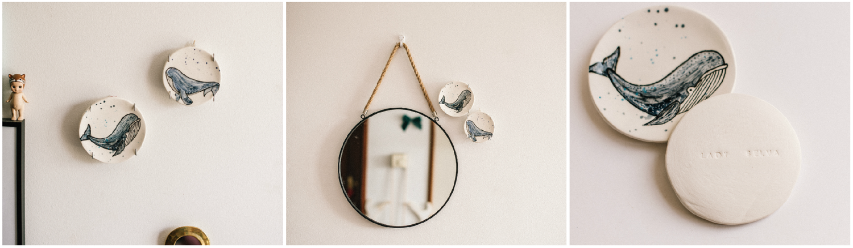 Image of Platito ilustrado decorativo, para colgar en la pared: Ballenas