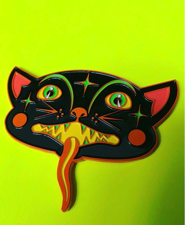 Image of 🎃Vintage Halloween inspired Black Cat PiN 🎃