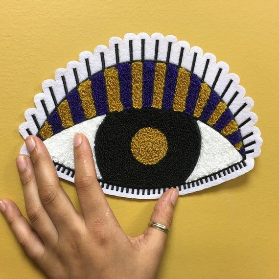 Image of All Seeing Eye Chenille Tufted Patch