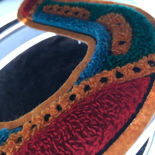 Image of Lucky Traditional Horseshoe Chenille Tufted Patch