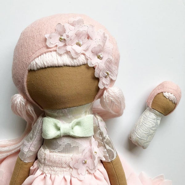 Image of Classic Doll Pink/Mint-choose your own eyes