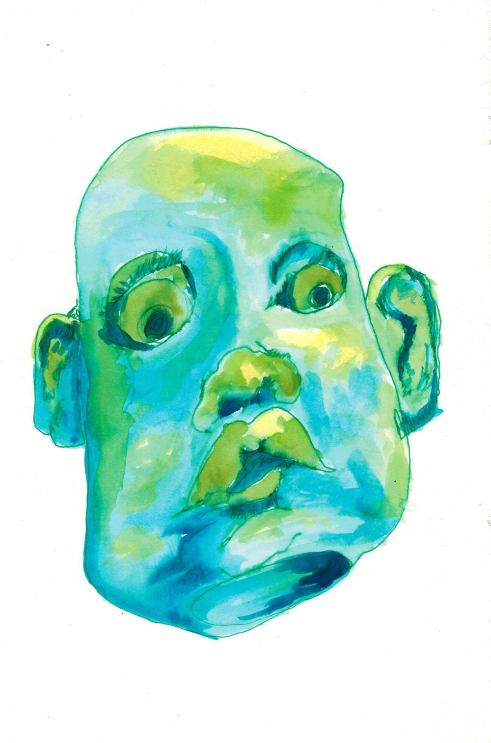 Image of Pickle Doll Face (Print)