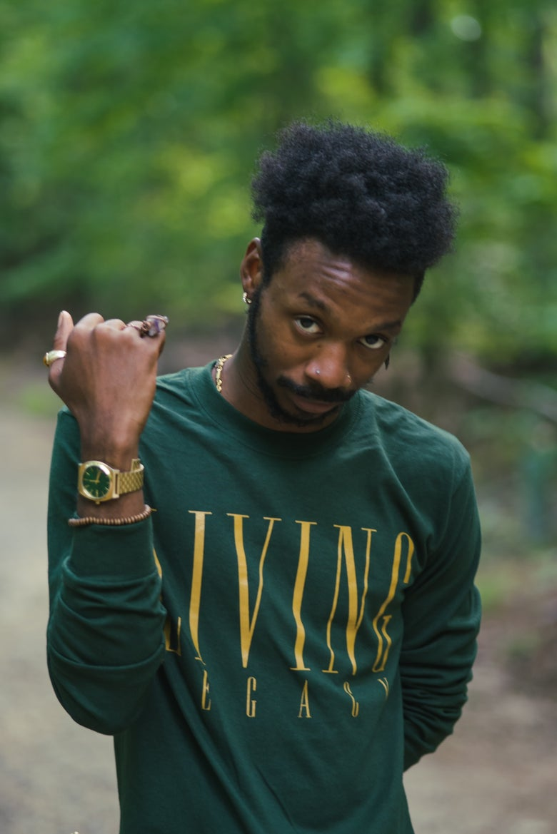 Image of Living Legacy Longsleeve Tee-Shirt (Forest Green)