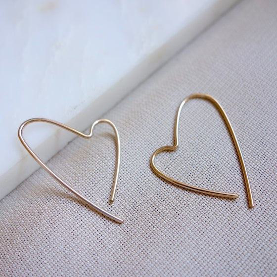 Image of Small Open Heart Hoop