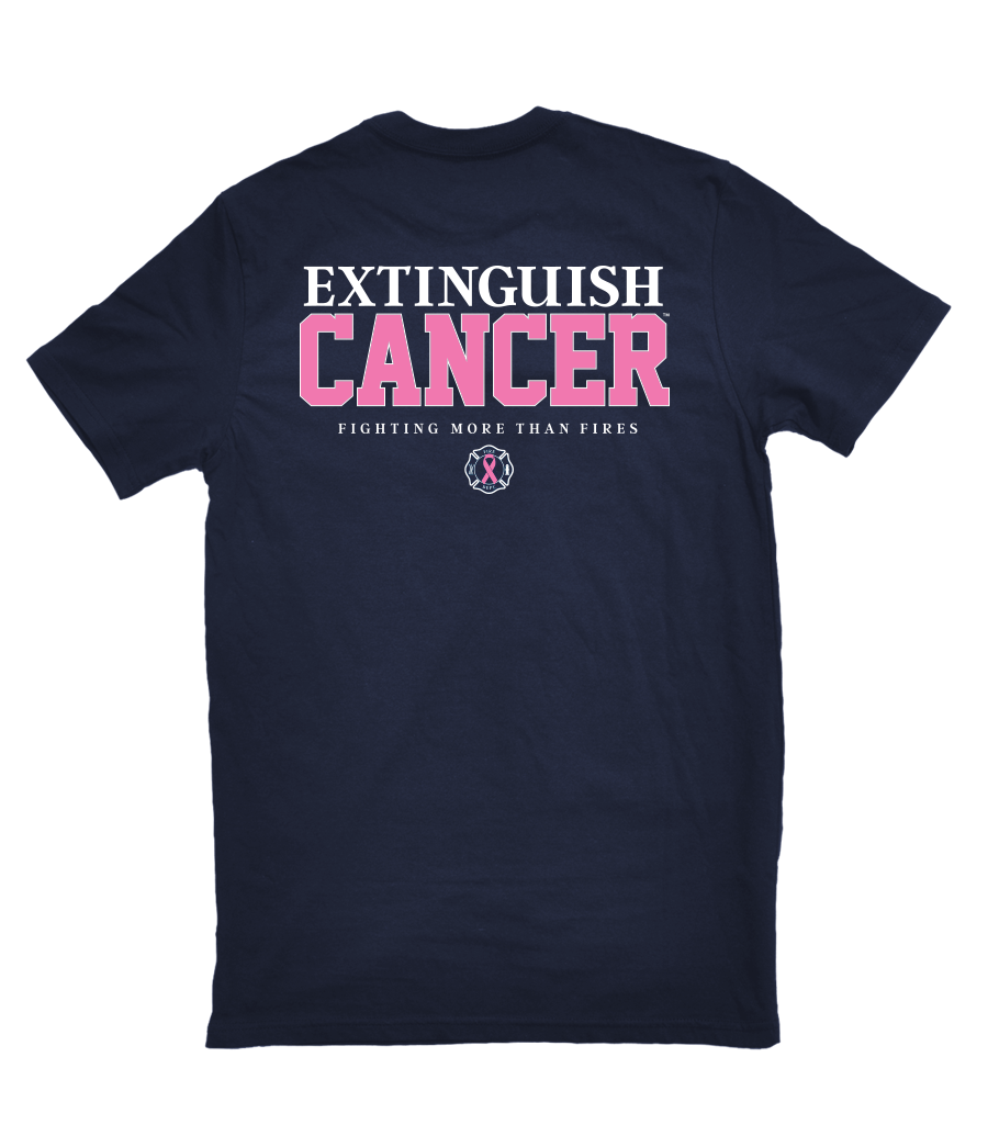 Image of Breast Cancer T-Shirt (Navy)