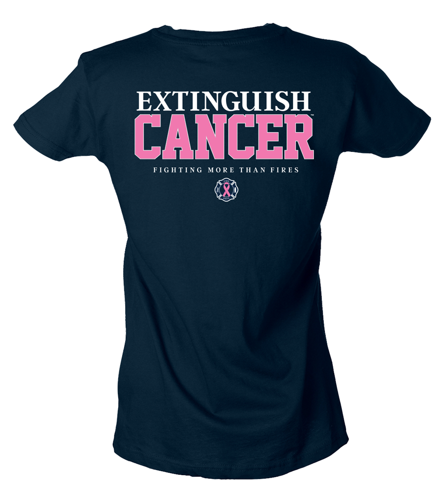 Image of Breast Cancer Women's T-Shirt (Navy)