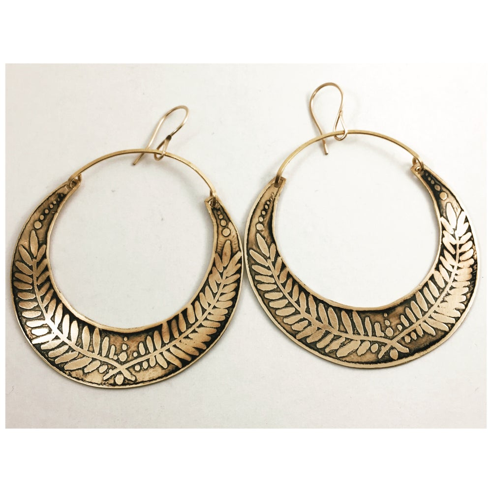 Image of Laurel Hoops