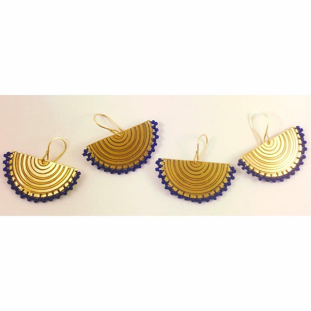 Image of Cobalt Slice Earrings
