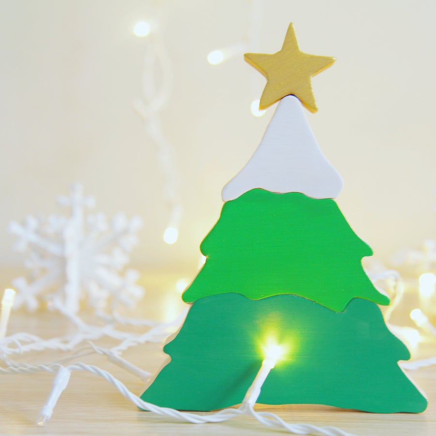 Image of Wooden Christmas Tree Puzzle