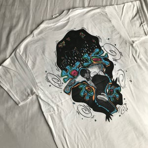 Image of WHITE 'J TOWN JUMP' T SHIRT