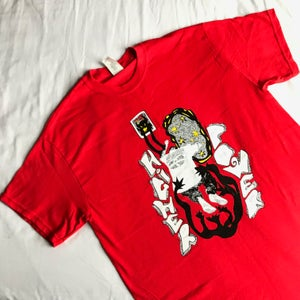 Image of RED 'J TOWN DEMON' T SHIRT