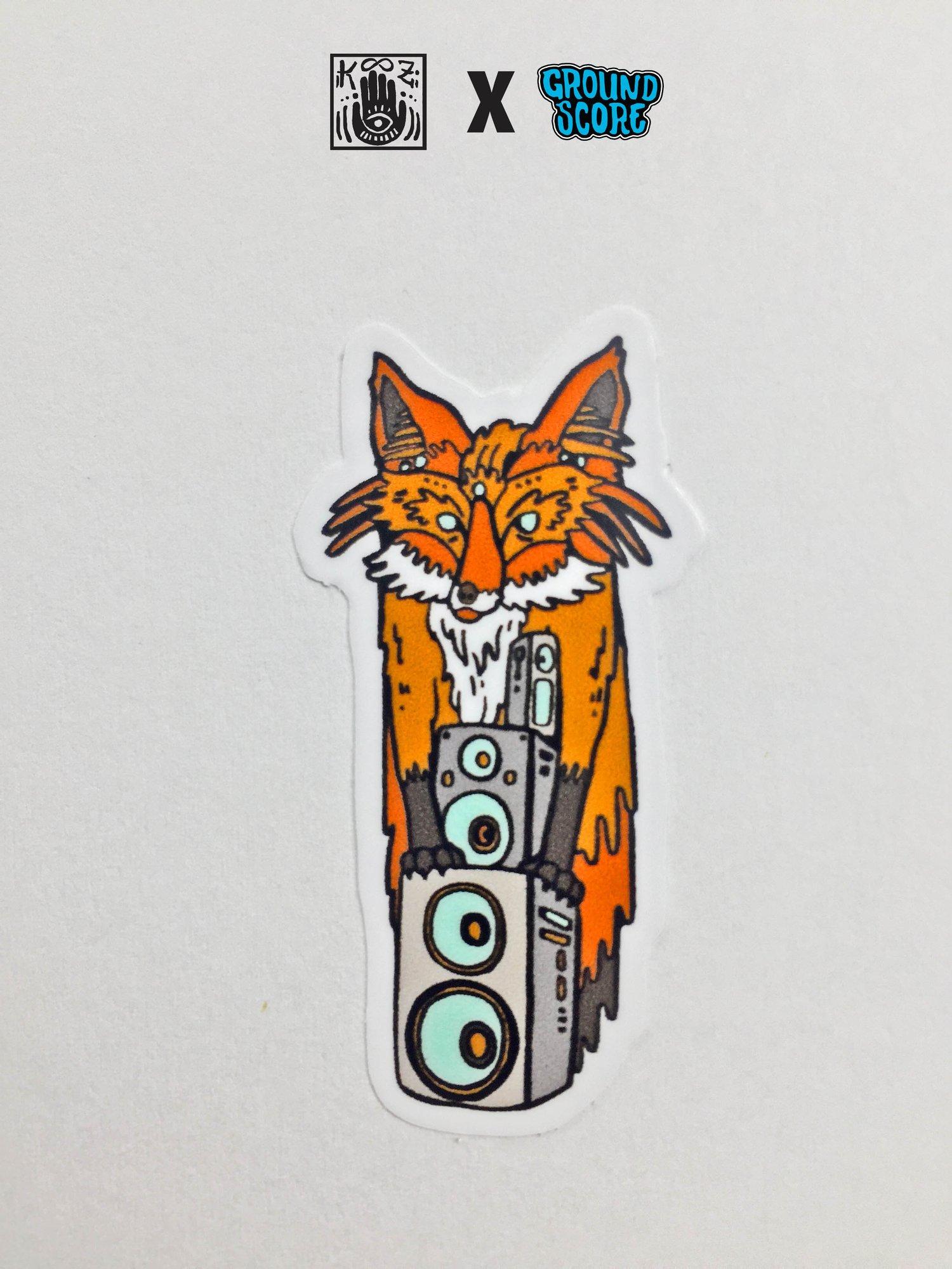 KOOZ - Speakerfox Sticker (5 Pack Combo)