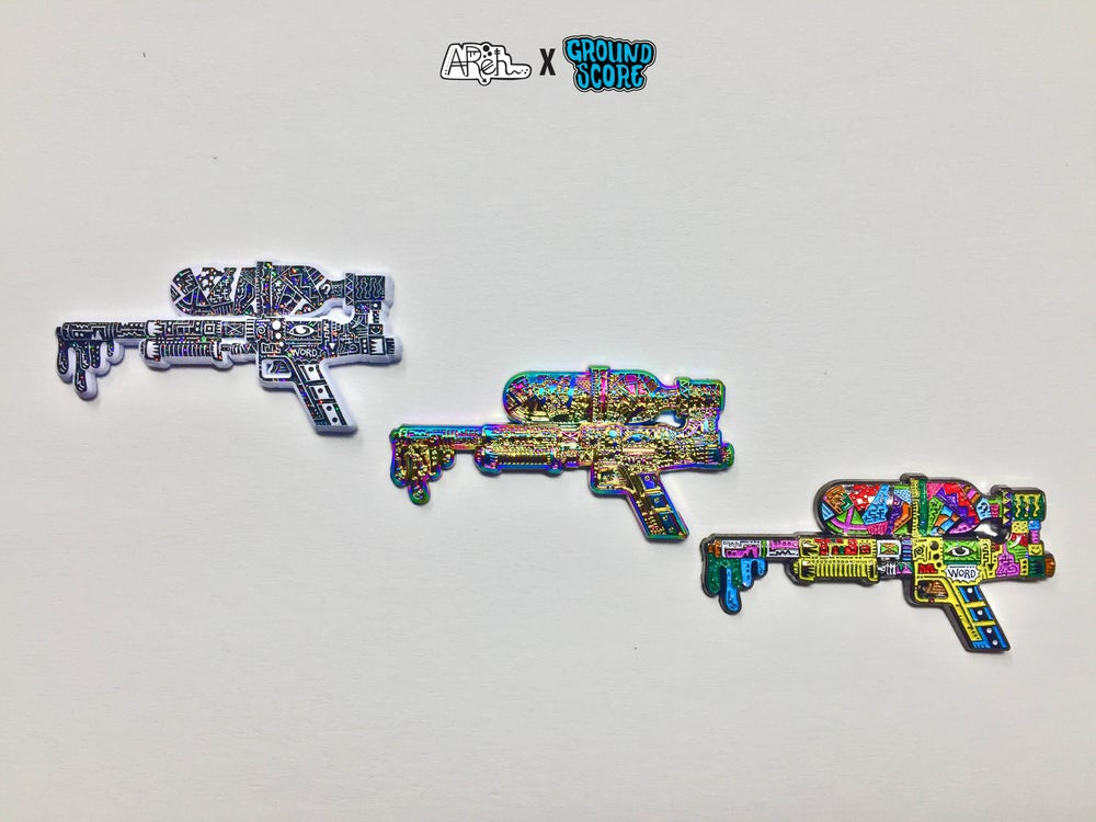 Image of AReh - Self-Aware Super Soaker 3D Pin