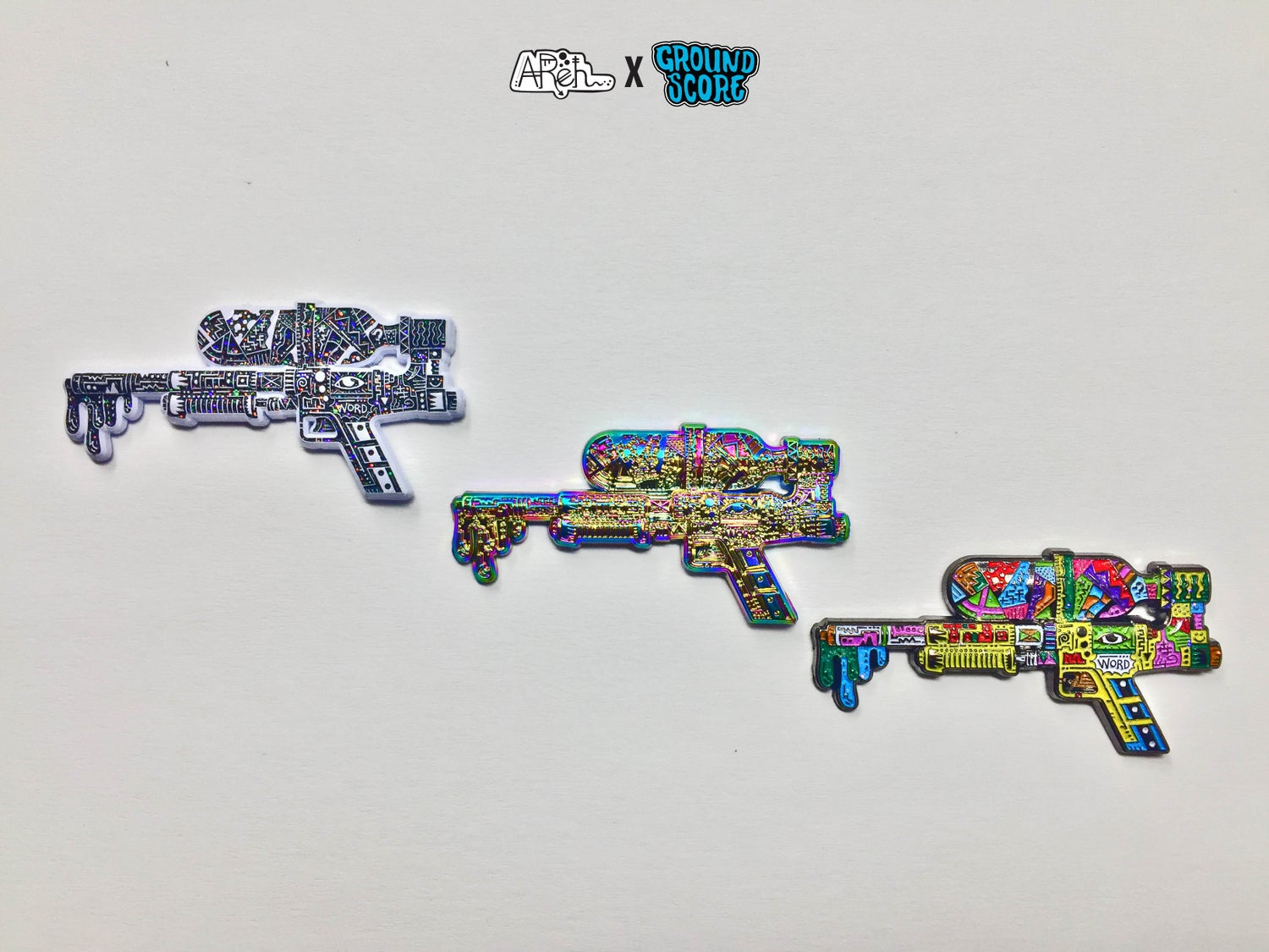 AReh - Self-Aware Super Soaker 3D Pin