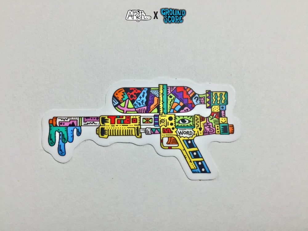 Image of AReh - Self-Aware Super Soaker Sticker (5 Pack Combo)