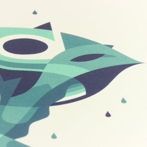 Image of Blue Frog -  print A4
