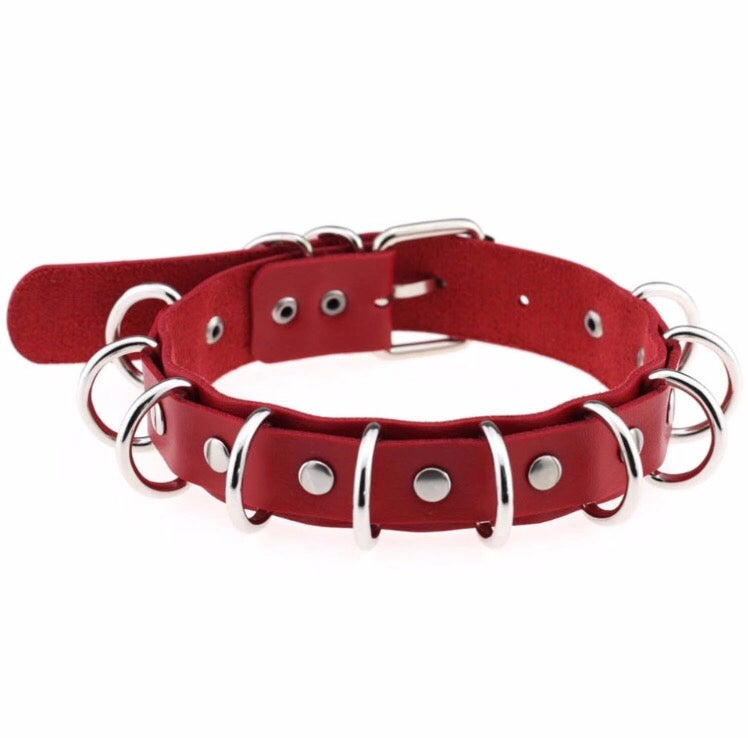 Loadza Ringz choker also available in Red