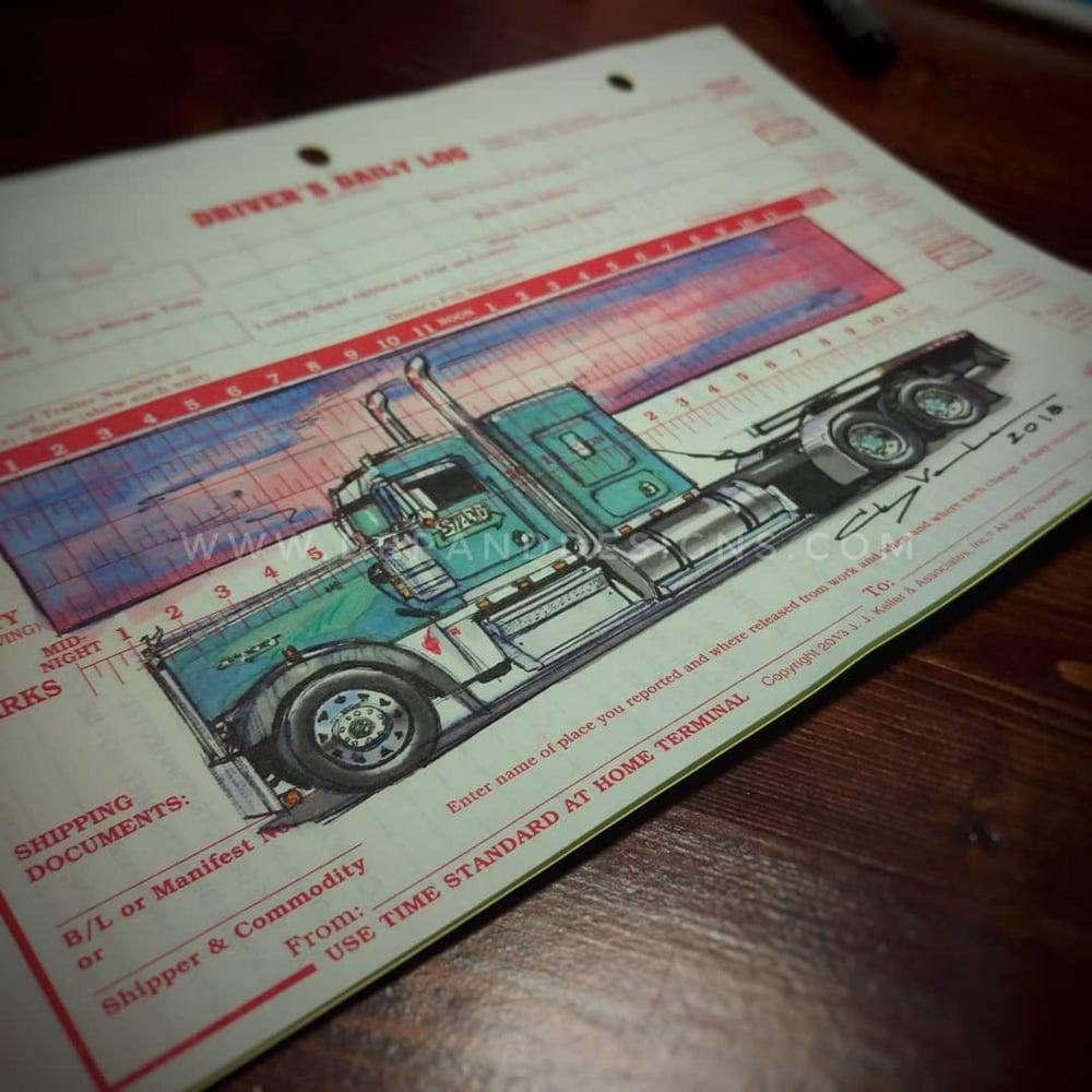 Image of The Original Custom Log Book Sketch