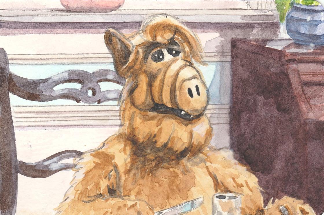 Image of Alf watercolor