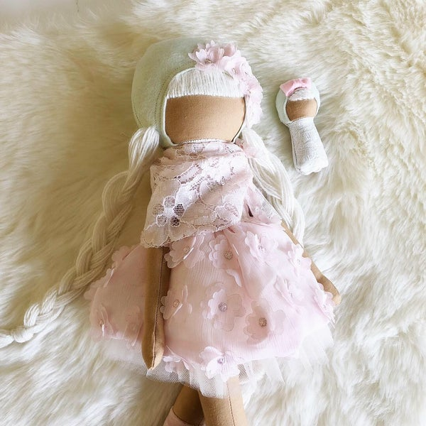 Image of Classic Doll Mint/Pink-choose your own eyes