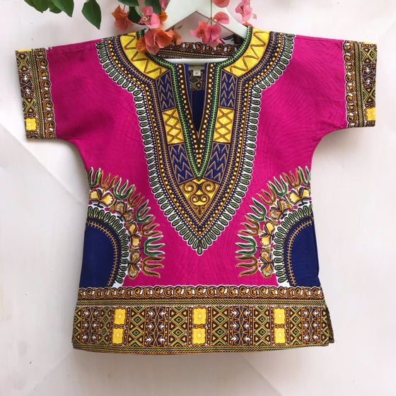 Image of Pink dashiki tunic