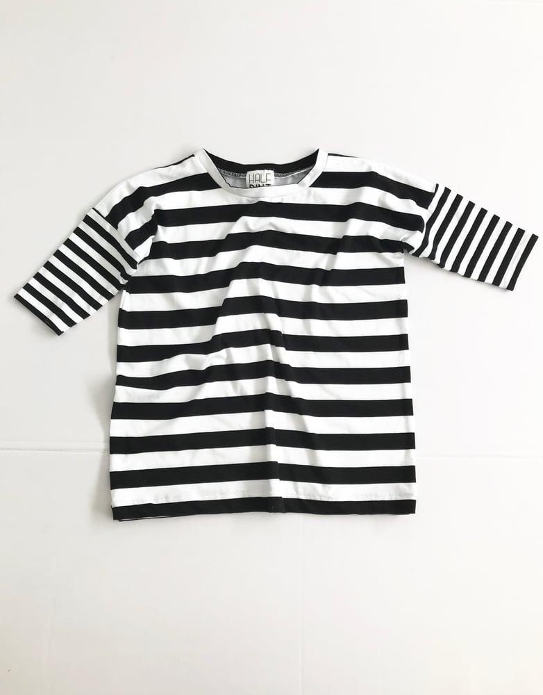 Image of The Shift Dress [black + white stripe]