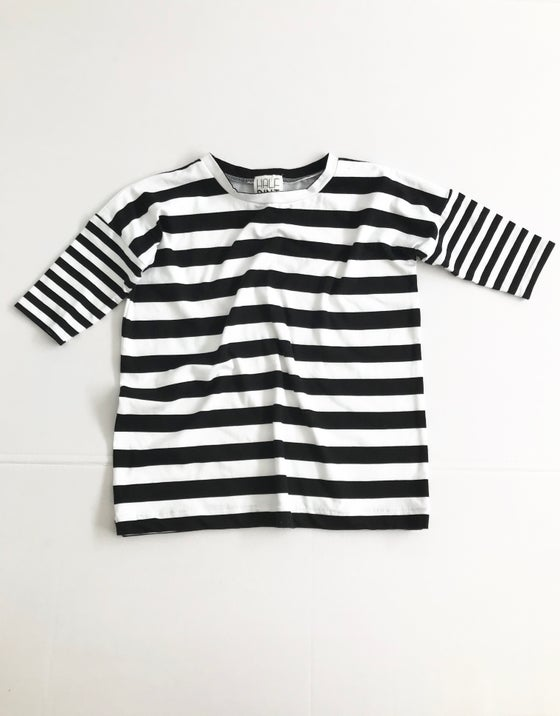 Image of The Shift Dress [black + white stripe]