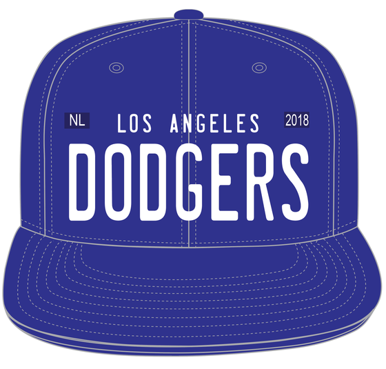 Image of DODGERS LICENSE PLATE