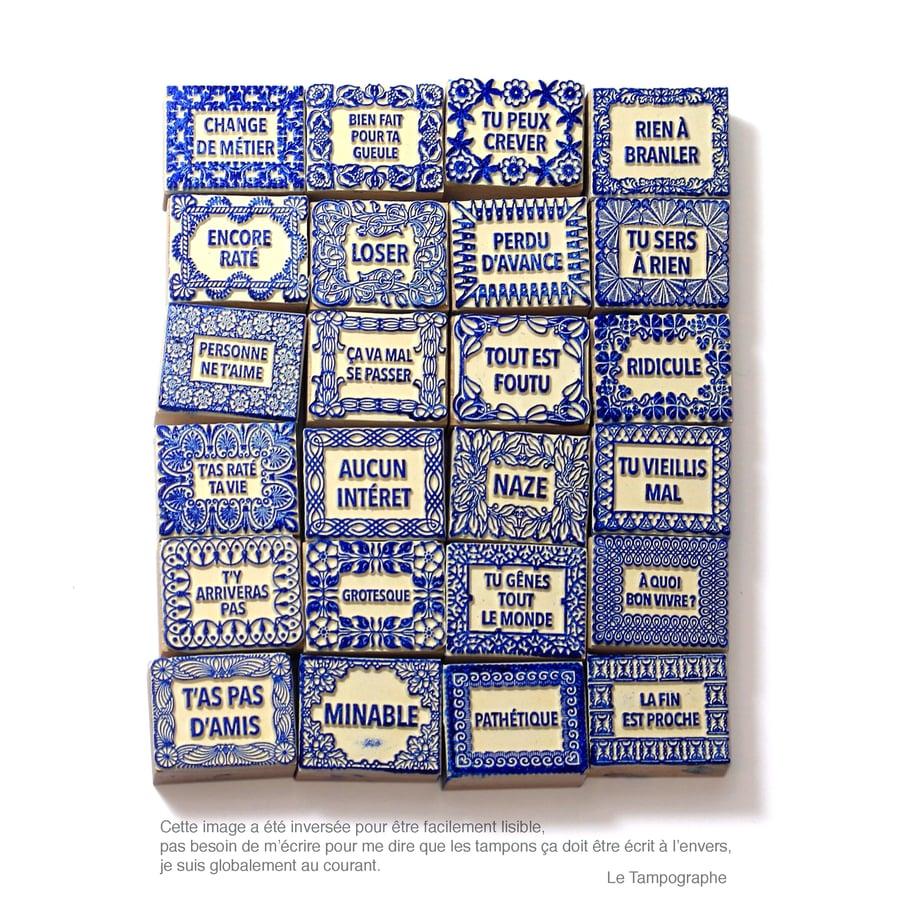 Image of Tampons déprimants - Depressing stamps