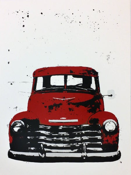 Image of Red Chevy Pickup