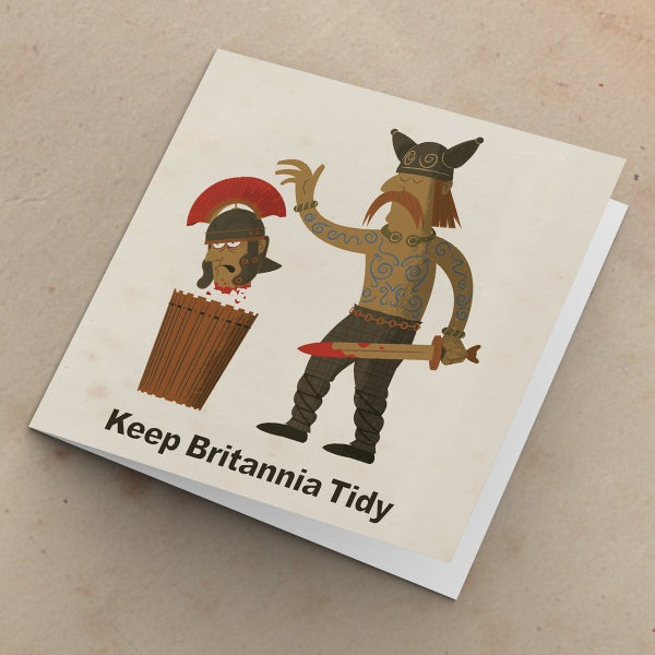 Image of Keep Britannia Tidy | Humorous Greetings Card | Blank inside, suitable for any occasion