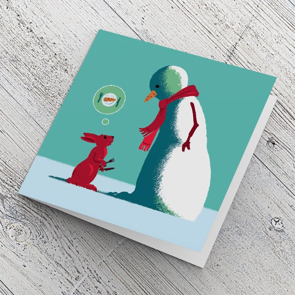 Image of Funny Cute Animal Christmas Card | Blank inside, suitable for any occasion | Original design