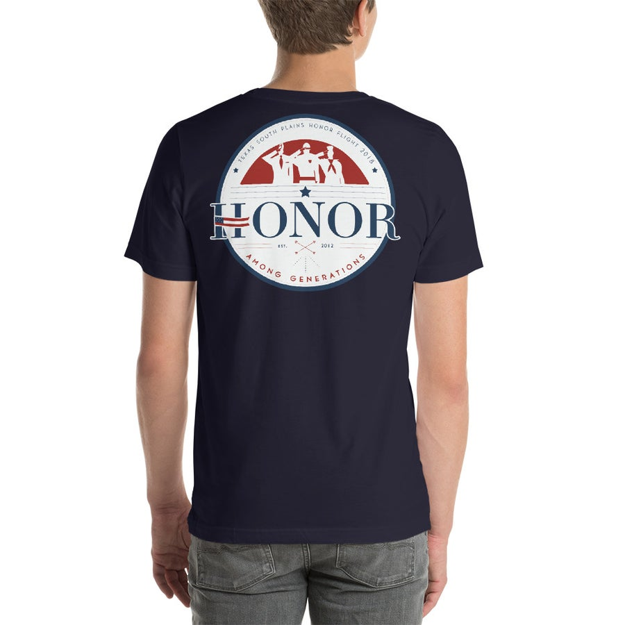 Image of Honor Among Generations T-Shirt Navy Blue