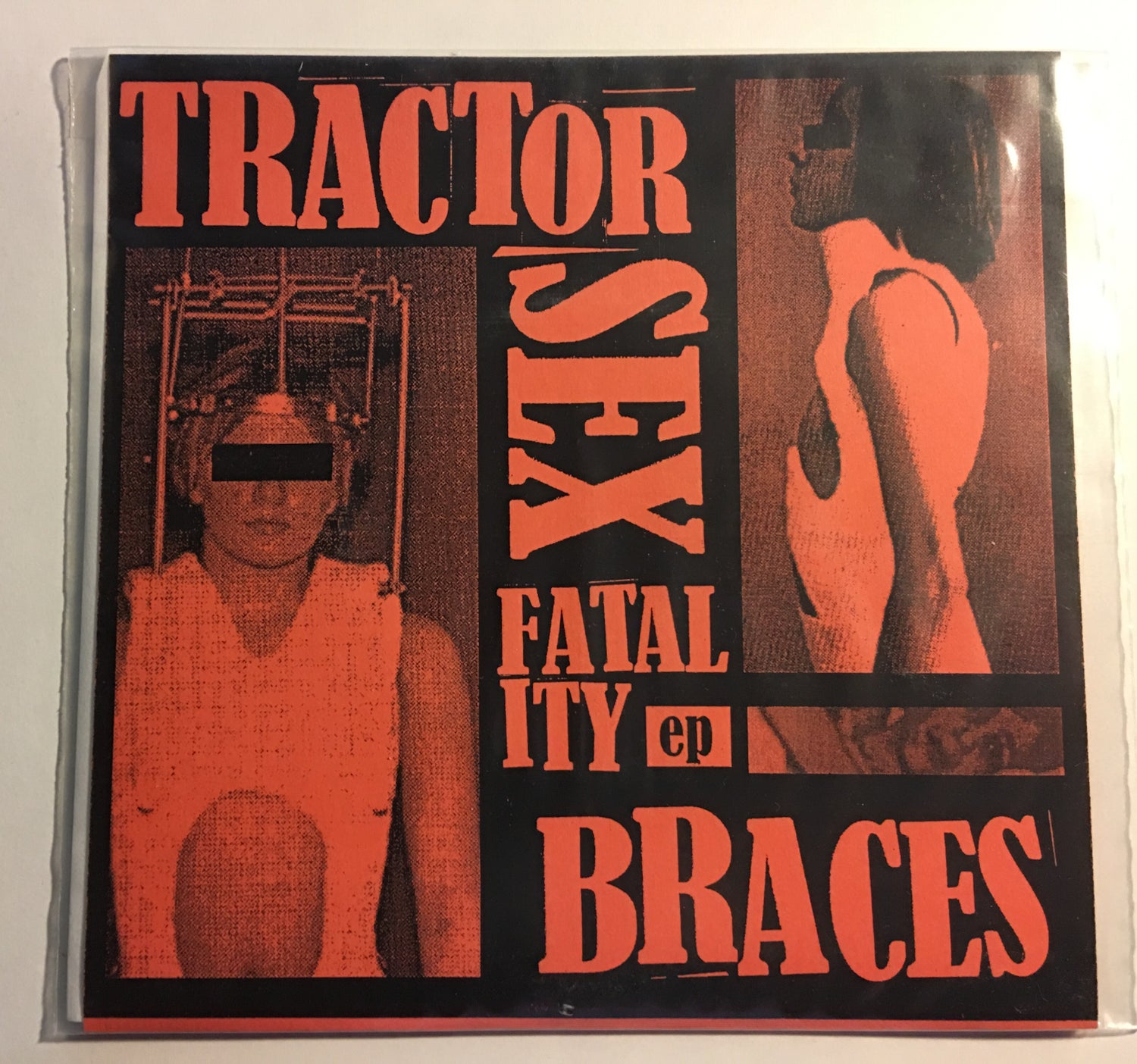 "Image of [LAST COPIES] TRACTOR SEX FATALITY - Braces 7"" EP (Kill Sounds KS-001/Unscene Sounds US7003, 2007)"