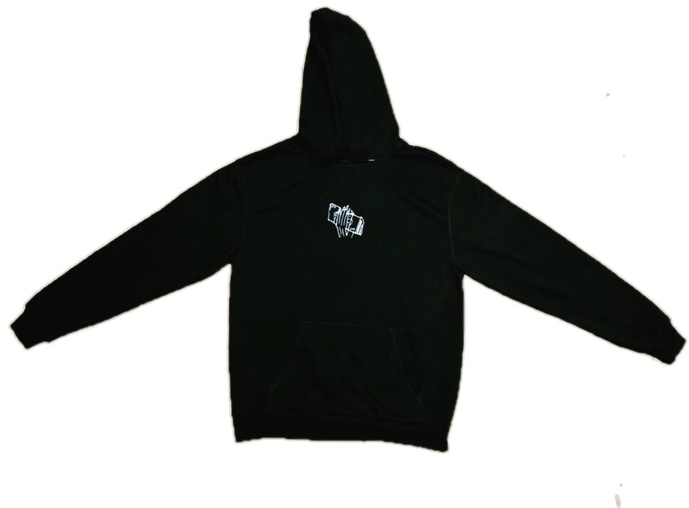 "Image of ""GET DA $$$"" - EMBROIDERED HOODIE (BLACK)"