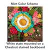 Custom State Felt Flower Sign in Mint