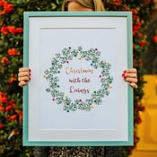 Image of Personalised Brussel Sprouts Wreath Print