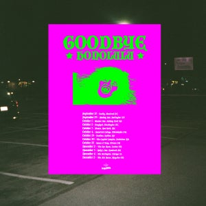 Image of Goodbye Honolulu 'Fall 2018' Tour Poster